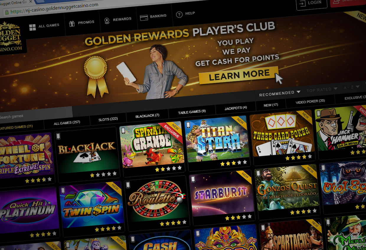 golden nugget online casino wonky